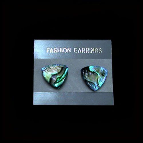 Earrings - Paua Abalone - Triangle